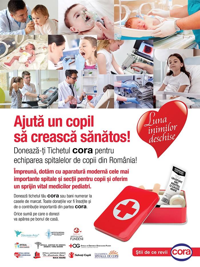 #LunaInimilorDeschise pentru secțiile de pediatrie din Constanța