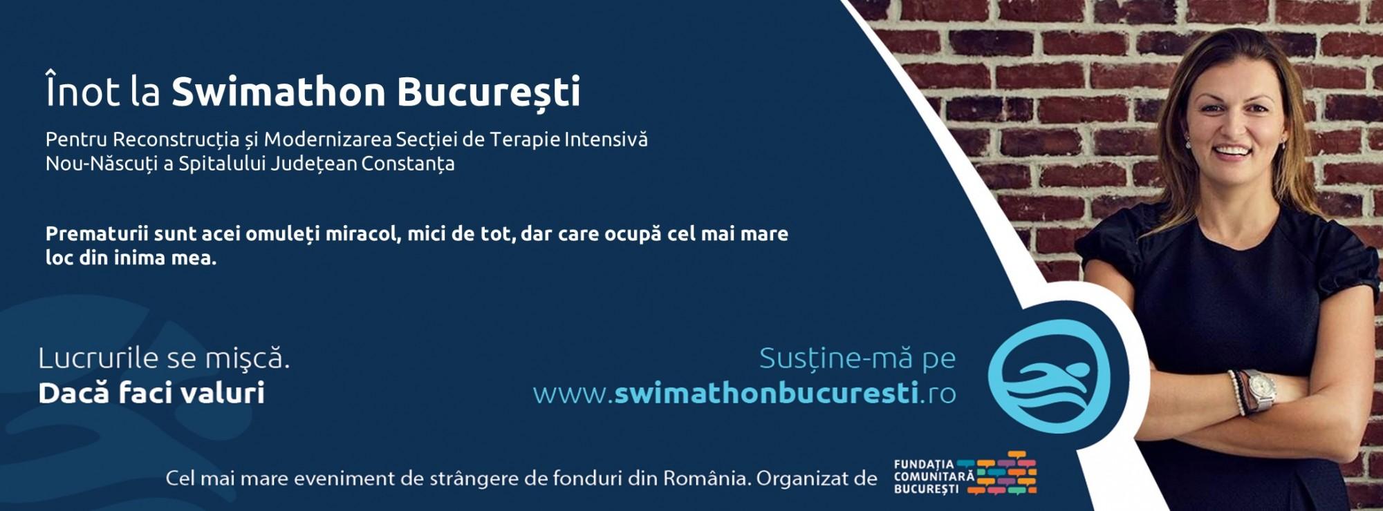 Alina înoată la Swimathon București: Valuri de fapte bune